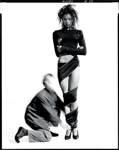 Picture by ARTHUR ELGORT | Azzedine Alaïa and Naomi Campbell, New York Cirty, 1987 ©Arthur Elgort