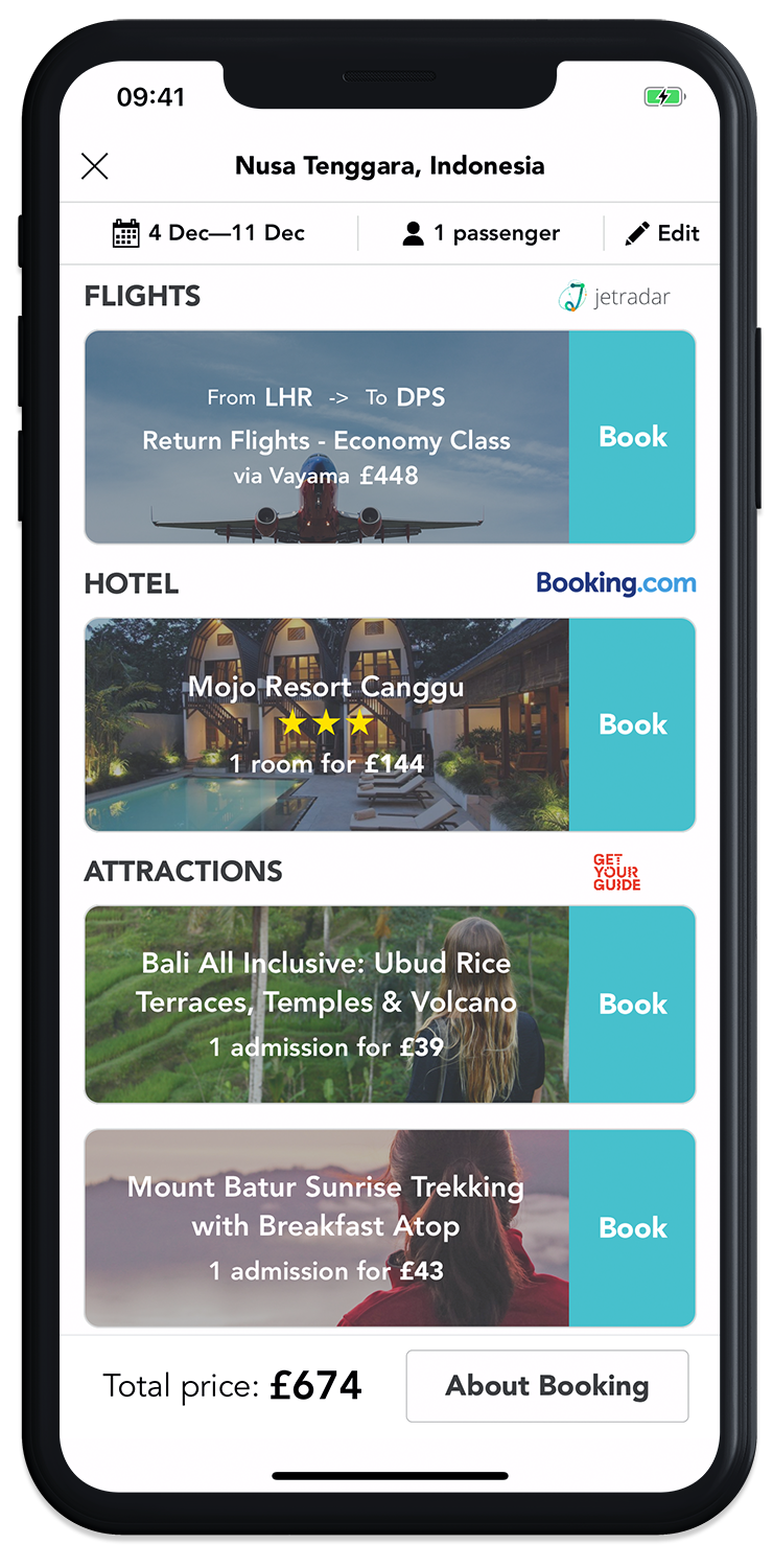 Book your next trip with just a few taps on the GoHype mobile app