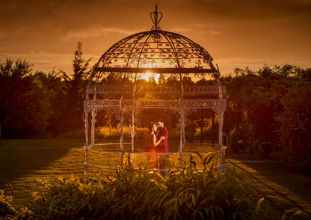 Satnam Photography Indian Hindu wedding photography london the grove sunset love