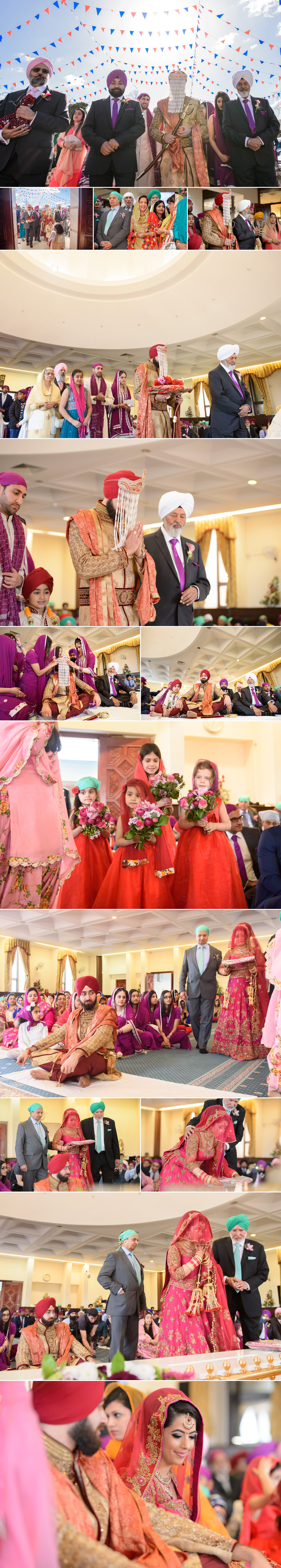 satnam photography sikh wedding ceremony alice way gurdwara london hounslow wedding photography-4