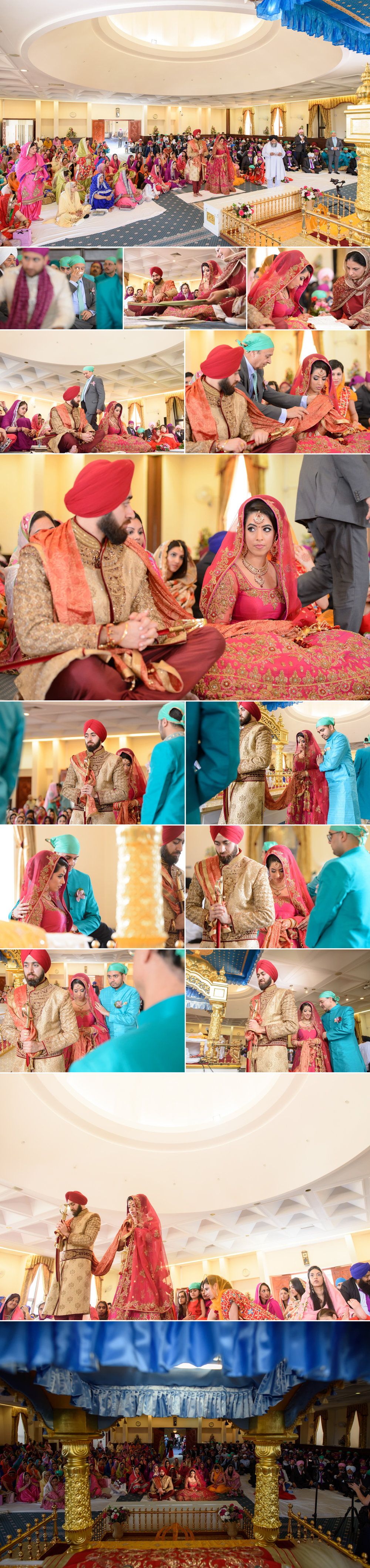 satnam photography sikh wedding ceremony alice way gurdwara london hounslow wedding photography-5