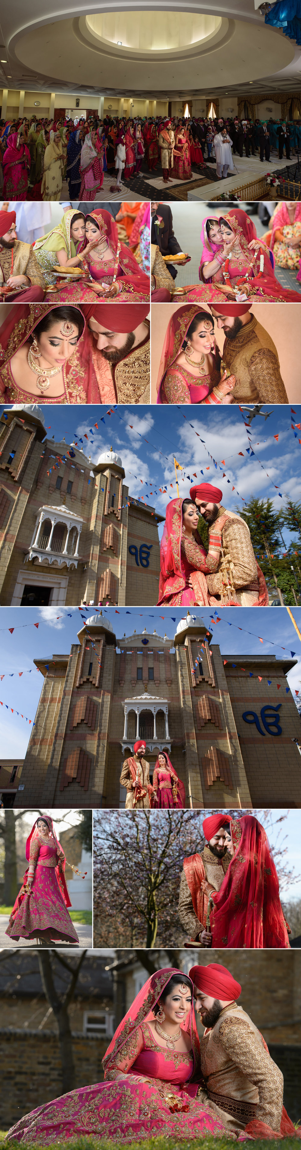 satnam photography sikh wedding ceremony alice way gurdwara london hounslow wedding photography-6