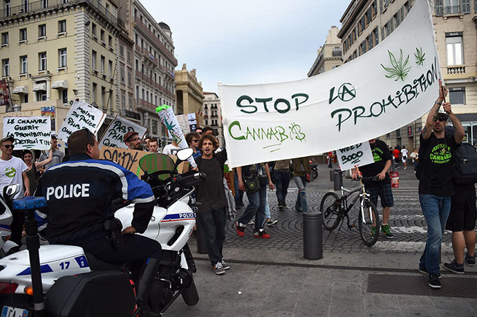 Protests for cannabis legalisation in Paris, 2014 - Photo Credit