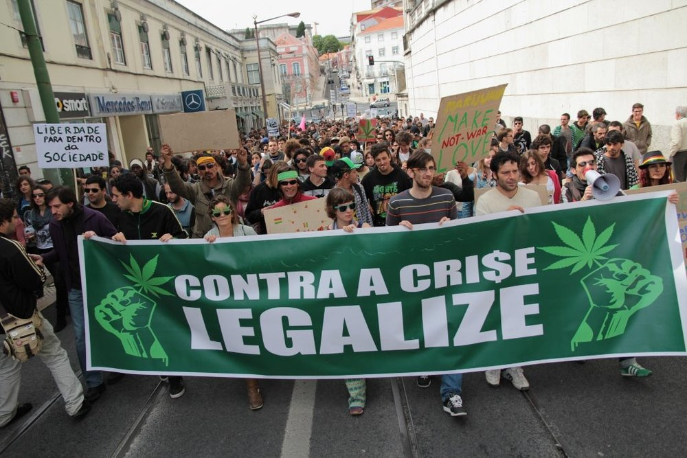 Protests for the regulation of cannabis social clubs in Portugal - Photo Credit