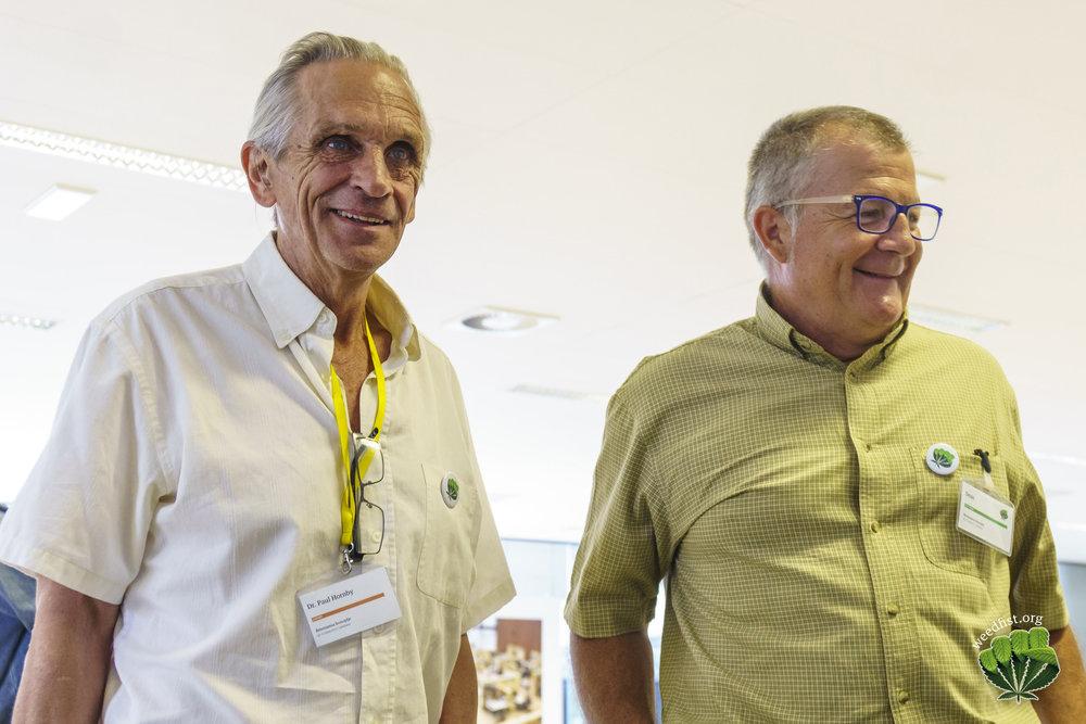 (Paul Hornby and Dean Herenda at Cannabis Renaissance 2017, Demistifying Cannabis)