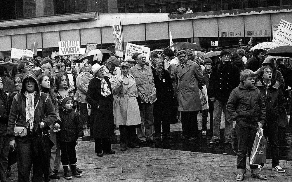 (Anti-drug demonstration led by Nils Bejerot, Flickr)