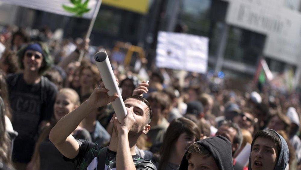 (Pro-legalisation march in Paris, 2015 ; RFI)