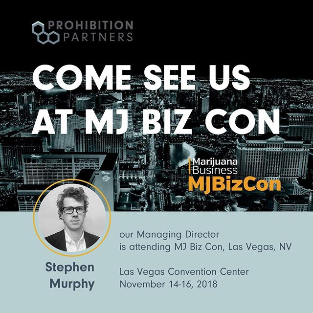 Our Managing Director, Stephen Murphy, is attending #MJBizCon today. Come say hello! - - - #cannabis #mjbizcon2018 #medicalcannabis #marketintelligence #cannabiz