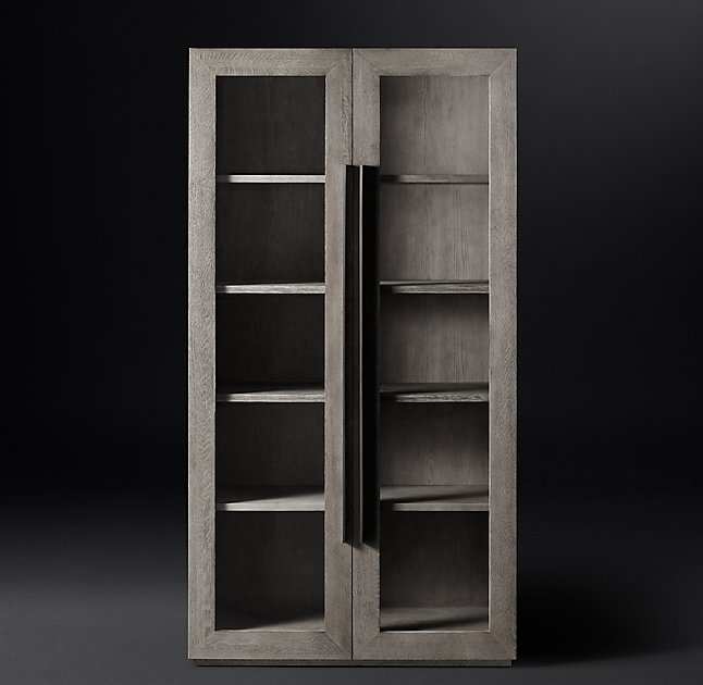 Gray wash cabinet from Restoration Hardware's Modern line
