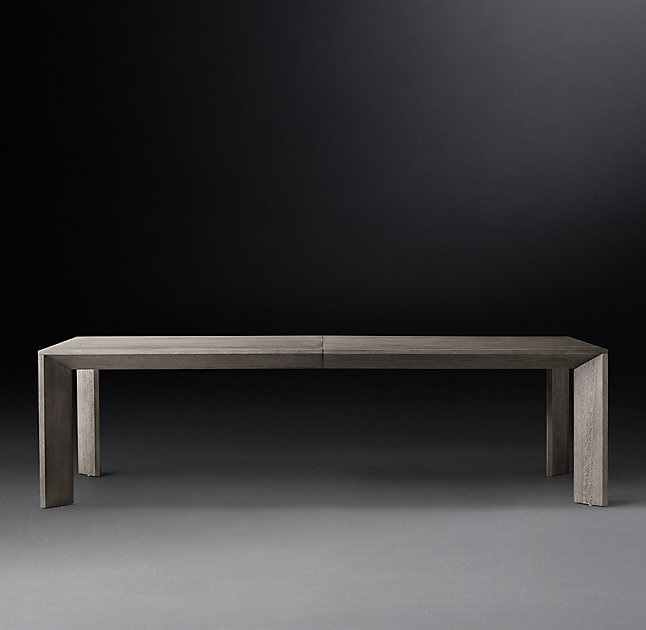 Dining table from Restoration Hardware's modern line