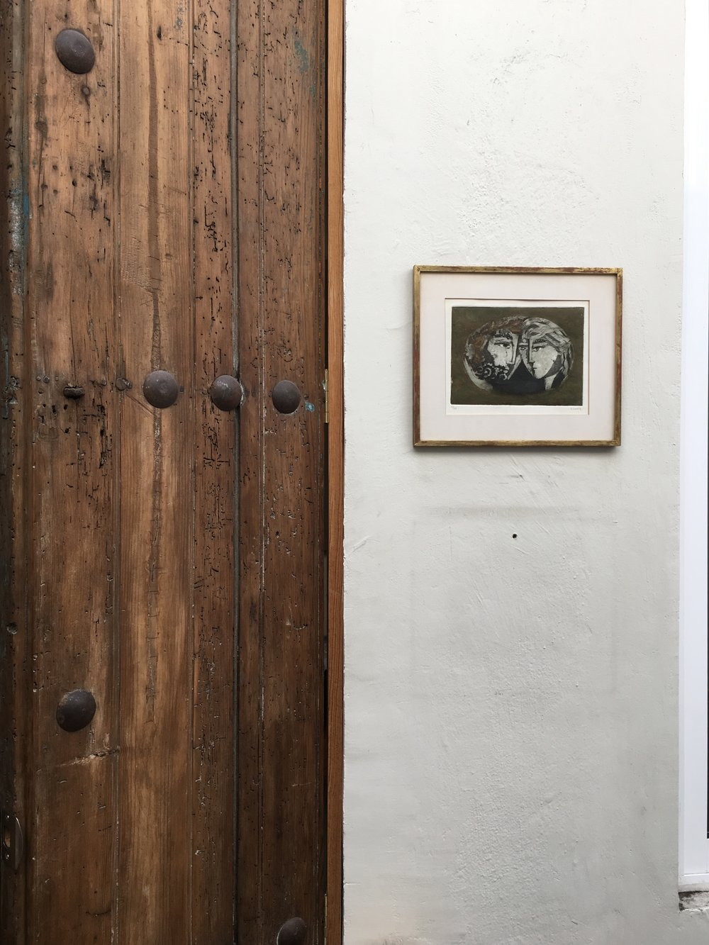 The homeowner used reclaimed building materials like these old doors.