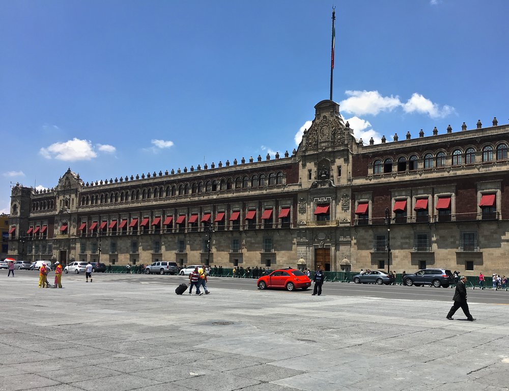 Facade of the Mexico National Palace