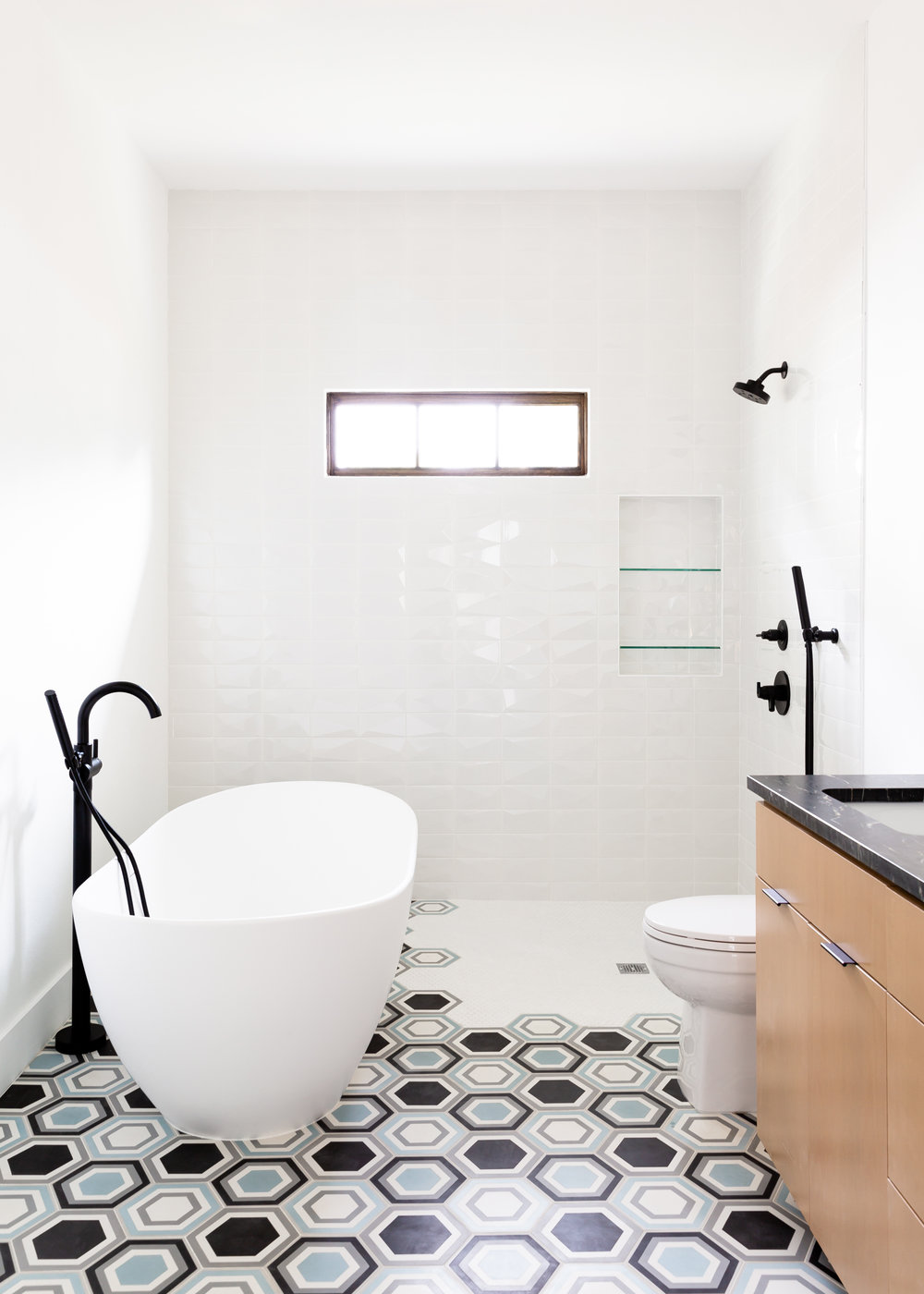 Have some fun with your bathroom. People always want to play it safe, but that's not how we roll!