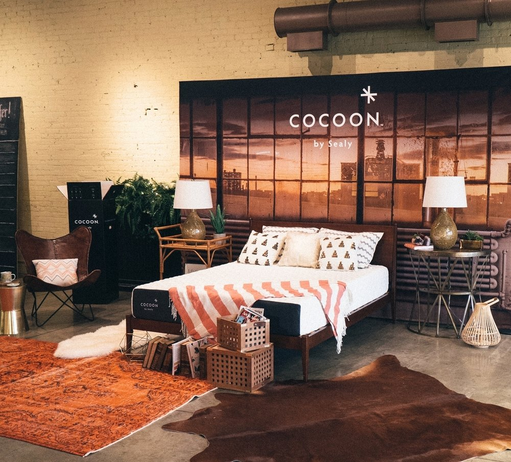 "Cocoon ""Bed in a Box"" shoot"