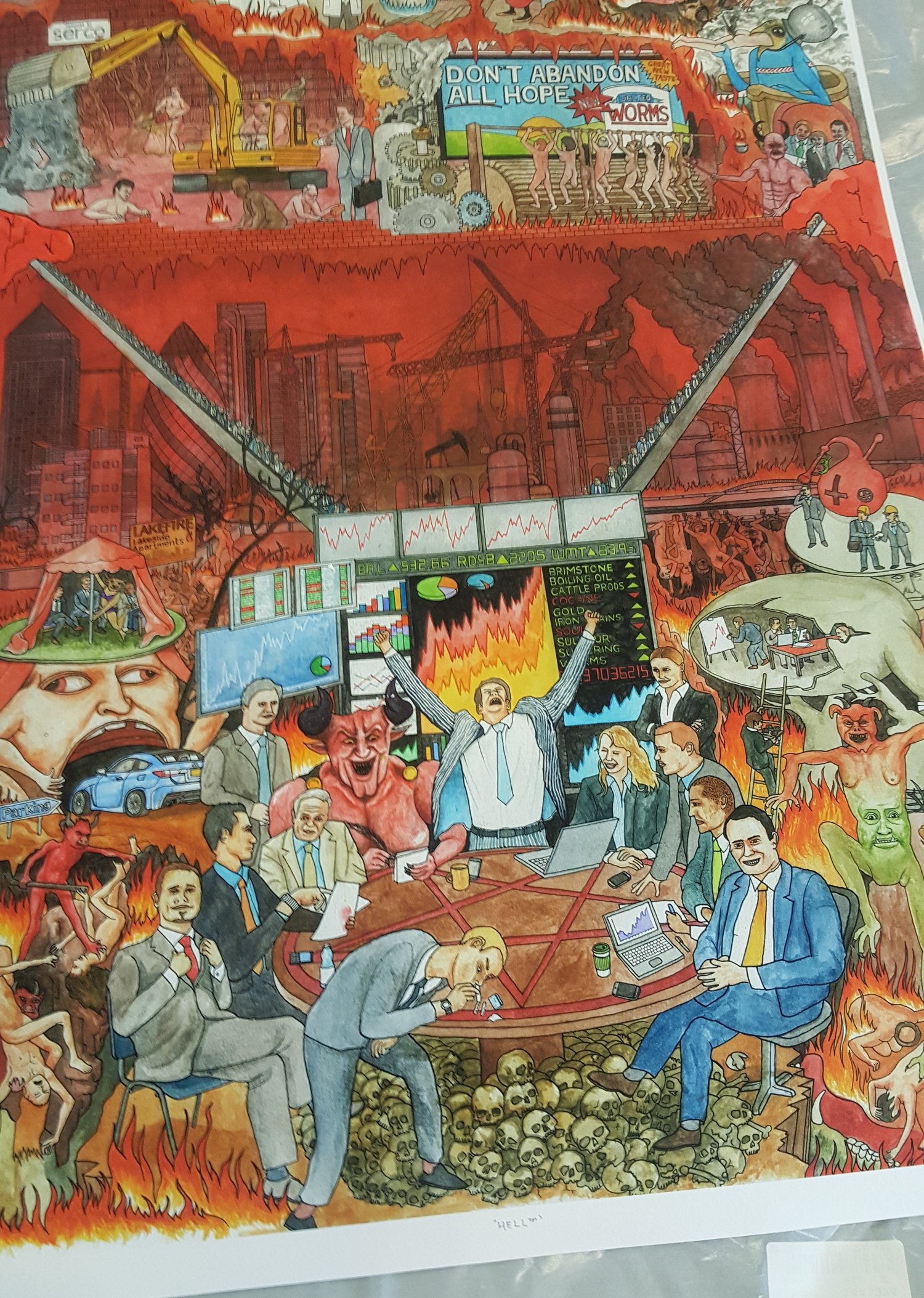 Business Hell - limited edition giclee print — S e n t i e n t