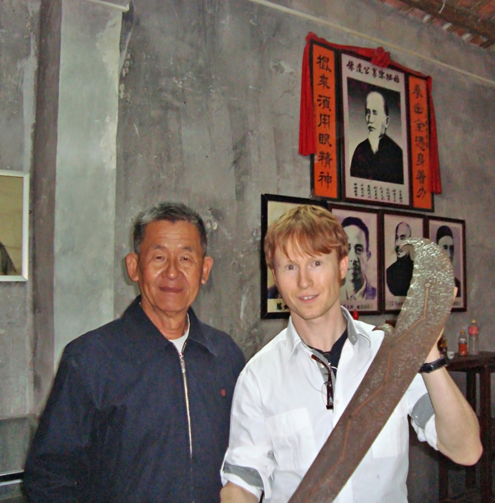 Niel with his teacher Chan Sun-Chiu the Keeper of Choy Li Fut Kung Fu.