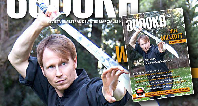 Niel on the front cover of Spain's most popular martial arts magazine.