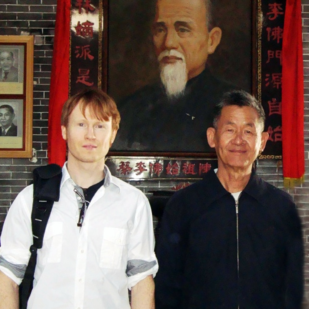 Niel with his teacher The last Keeper of Lohan Qigong