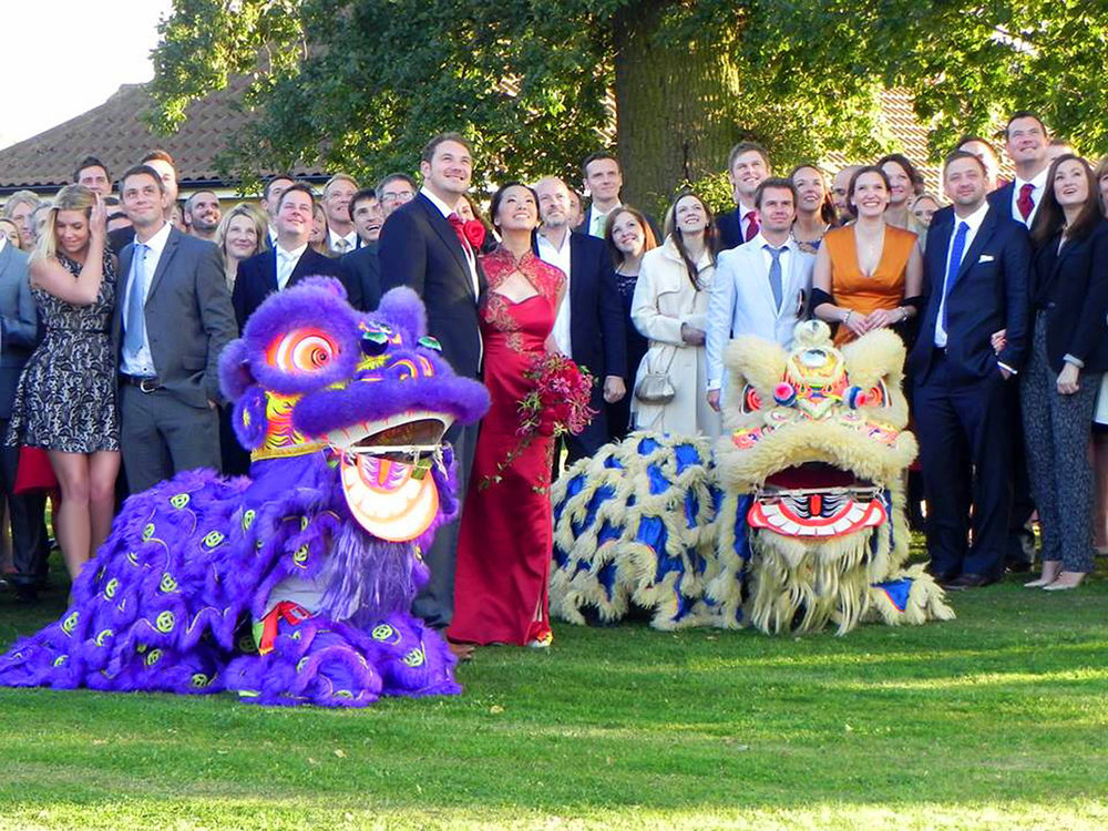 Lion and dragon dance in Norwich wedding party planner.jpg