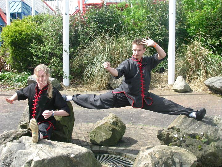Matt Goodchild splits nec kung fu demo team from Norwich.jpg