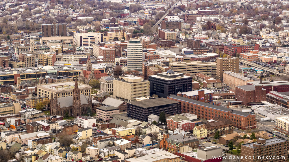 Drone Photo of Downtown Paterson, NJ