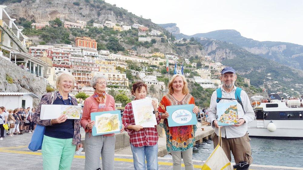 art holiday Positano