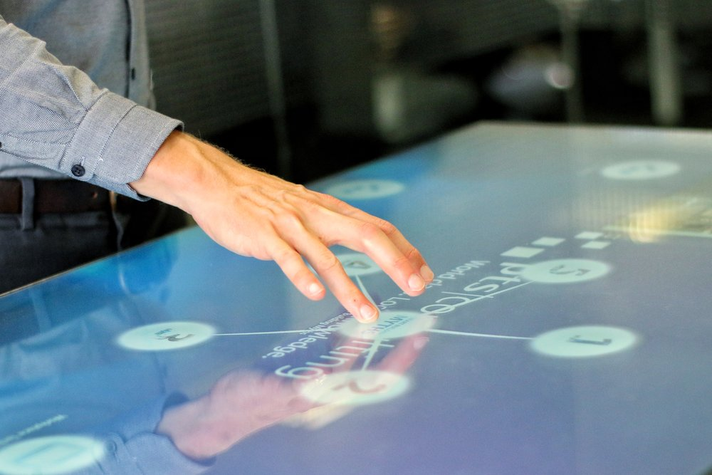 PTS Consulting use Interactive Table at Event to showas Workplace Technology Consultancy experience