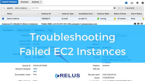 Troubleshooting Failed EC2 Instance Status Checks — Relus Cloud