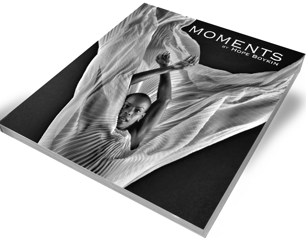 Purchase your signed copy of Moments.    Original work written by Hope Boykin with photography by Steve Vaccariello.  MOMENTS is 130 page, square (7in x 7in), paperback book.