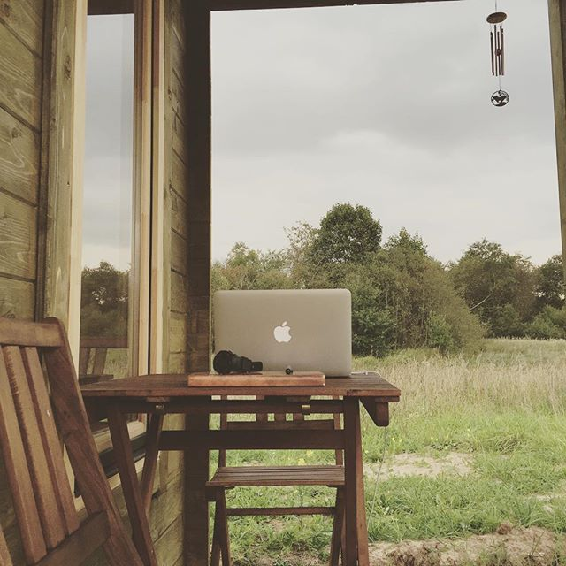 My new workplace in still wild nature. #tinyhouse #remotework #nature #workplace #lithuania