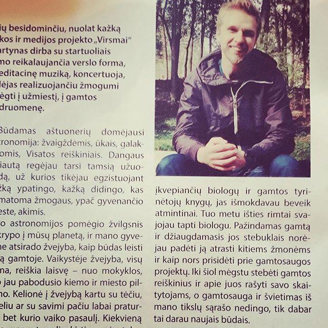 "Interview by ""Raktas"" magazine [2016-02] #nature #music #interview #magazine #raktas"