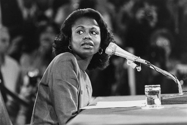 Anita Hill Warns That History Could Repeat Itself Durning The Kavanaugh Hearings. ⠀⠀⠀⠀⠀⠀⠀⠀⠀ In 1991, Anita Hill testified before the Senate Judiciary Committee that her former boss, then–Supreme Court nominee Clarence Thomas, had subjected her to repeated sexual harassment. During the hearings, she was subjected to degrading questions and personal attacks; used as a political pawn as the committee's senators, one by one, attempted to humiliate her. Now, in an op-ed in the @nytimes, Hill warns that the same could happen in the upcoming Brett Kavanaugh hearing — and provides a framework to keep history from repeating itself. Link in. Up for full article. ⠀⠀⠀⠀⠀⠀⠀⠀⠀ Image and excerpt via @thecut