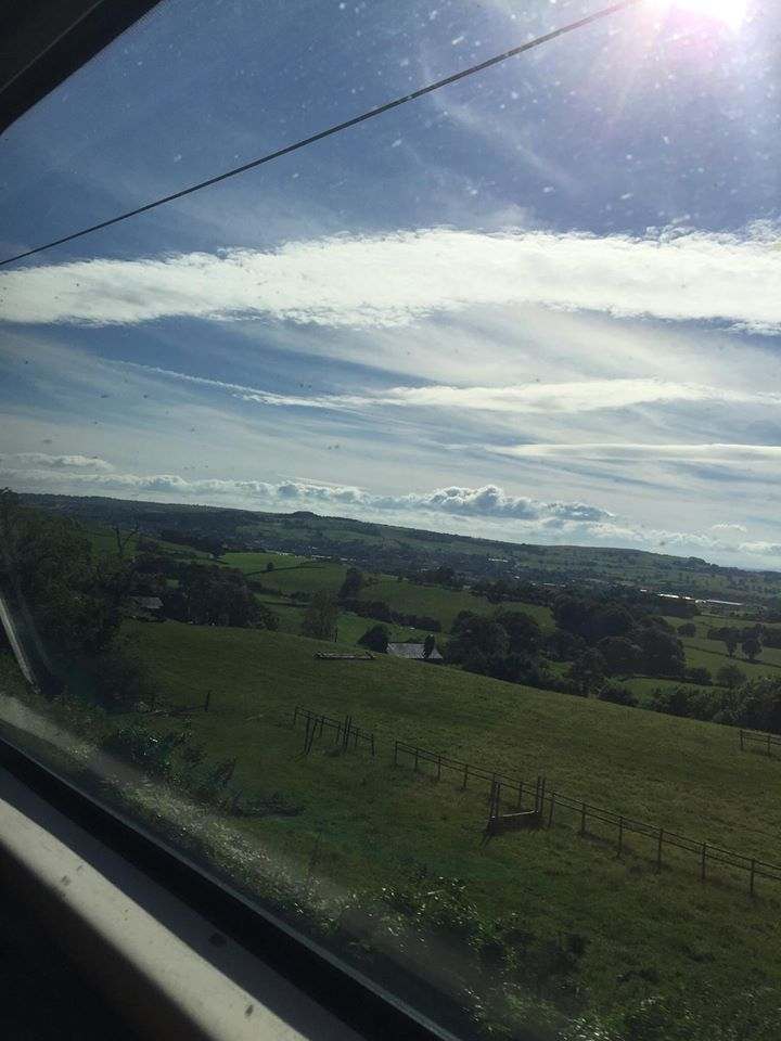 View on my train ride back to Scotland from Liverpool.