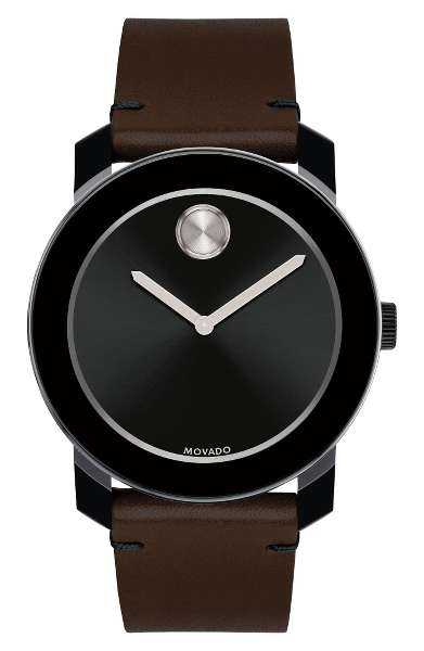 THE TIMEPIECE - Movado's timepieces are classic because they're clean & modern - a design that never goes out of style.Movado's 'Bold' Leather Strap Watch, 42mm is our current favorite.