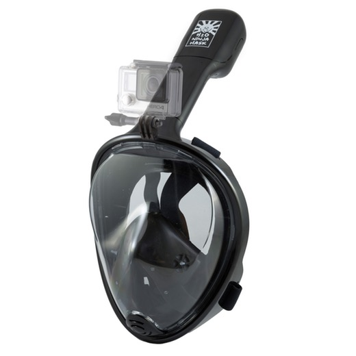 GEAR - Get serious about your adventures in the wild seas with the H20 Ninja Mask FULL FACE SNORKEL MASK + GOPRO MOUNT & document your journeys in the great blue unknown.