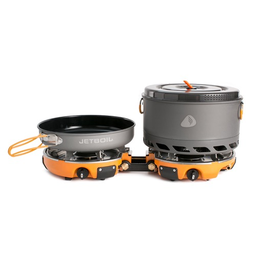 HOMEBASE - JETBOIL Genesis Basecamp Stove System - Unfortunately, a man can't survive on grit, alone. No - we need sustenance, too. And, if you want it done right, prepping your meals with this bad boy is the way to go.
