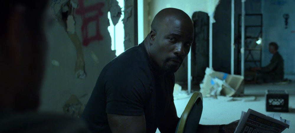 So apparently this is how I hate Danny the least. Tied to a chair and having bro time with Luke Cage. Go figure.
