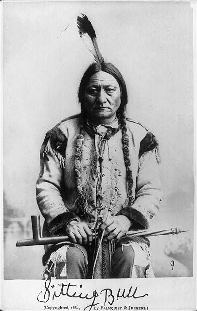 Sitting Bull , Palmquist & Jurgens, photographer c. 1884 Library of Congress Copyright by Palmquist & Jurgens