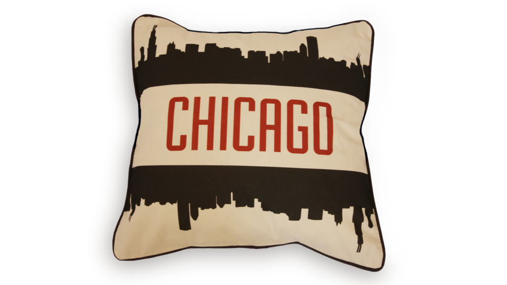 Chicago Skyline Pillow Case