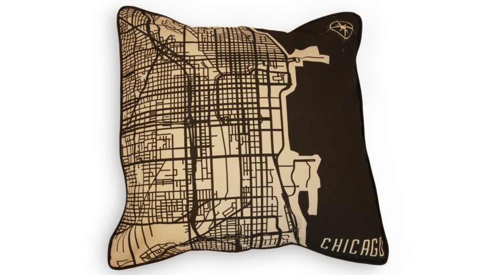 Chicago Map Pillow Case