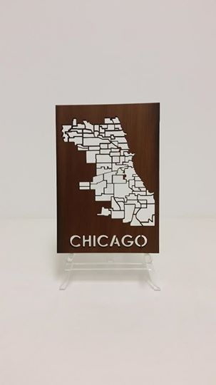 Redwood Cut-out Map, $55
