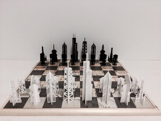 Chicago Themed Chess Set