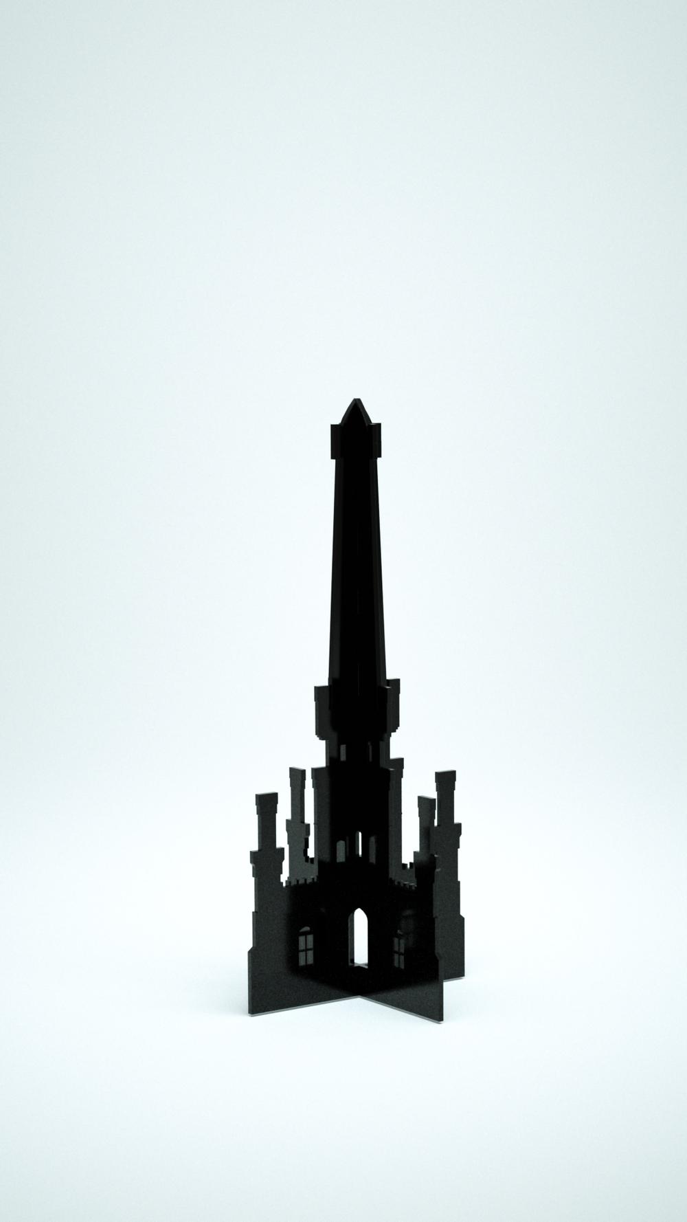 Water Tower, Black