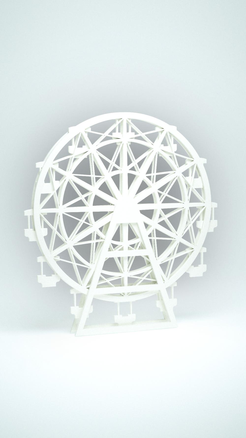 Ferris Wheel, White