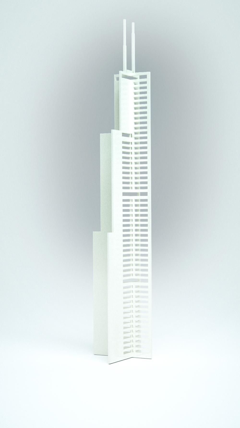 Willis Tower, White