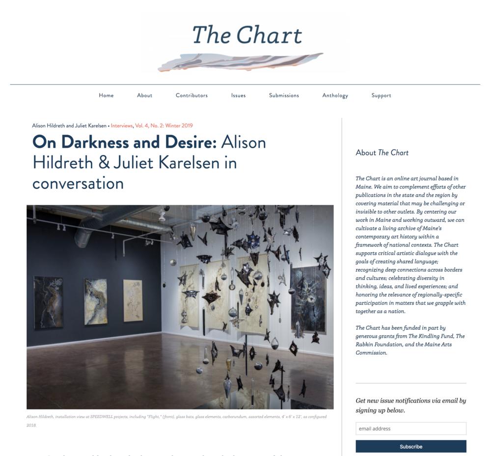 On Darkness and Desire: Alison Hildreth & Juliet Karelsen in conversation - The Chart