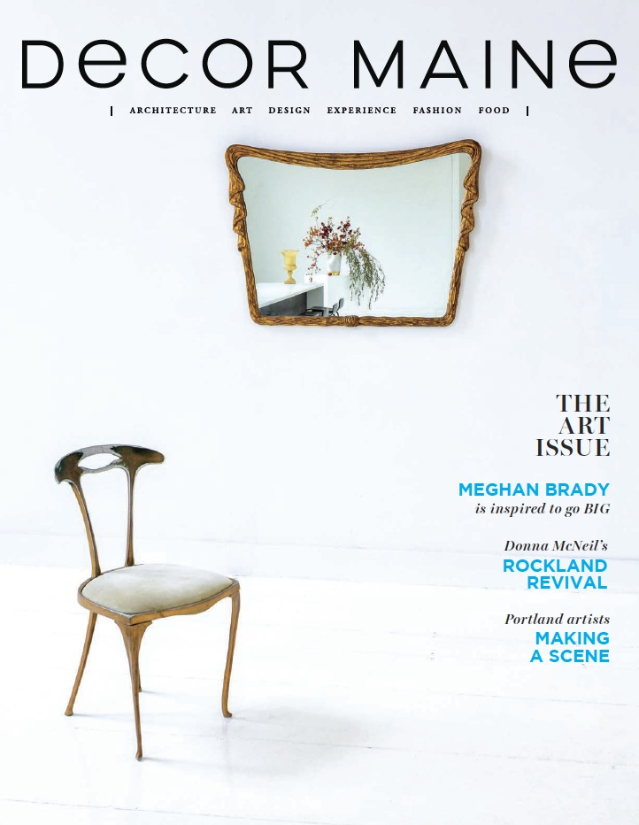 """Jan/Feb 2019 of """"The Art Issue"""" of Decor Maine"""