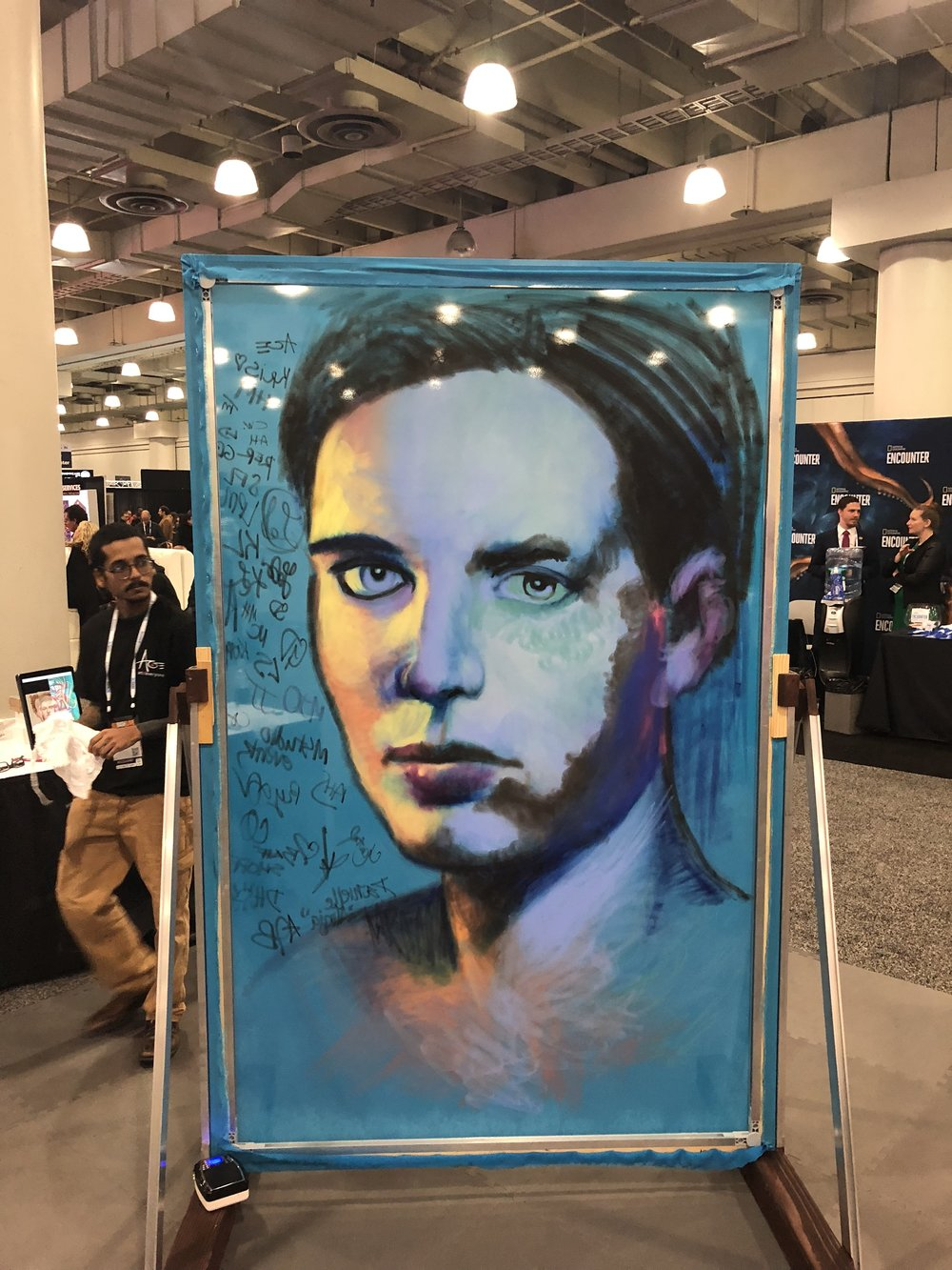 Canvas Laser Guided Painting - Jacob Javits 2018