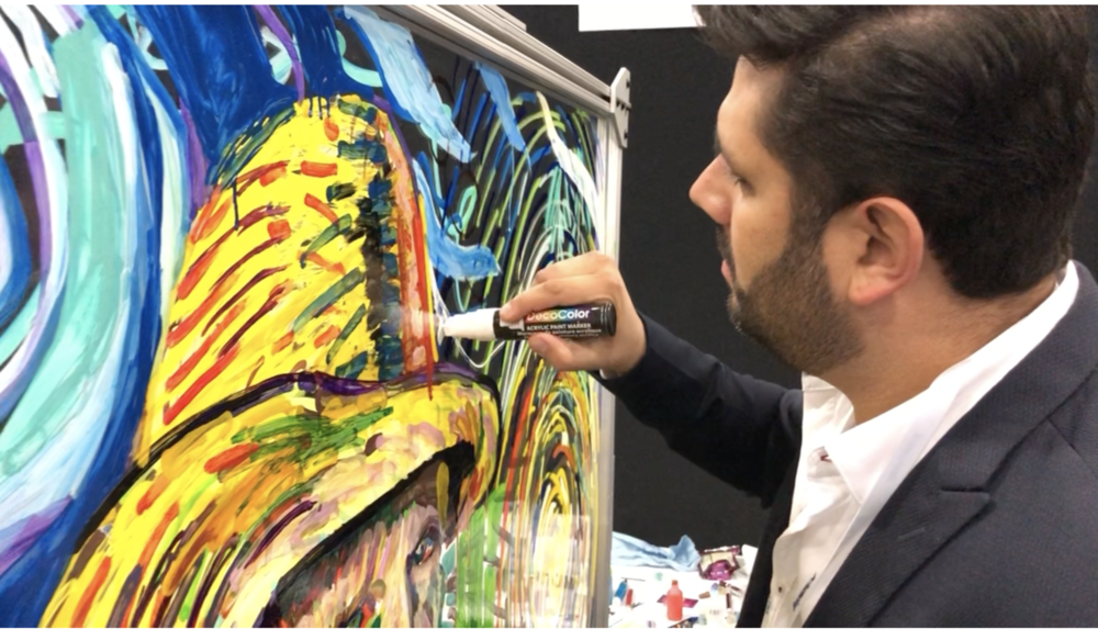 Acrylic Laser Guided Painting - Jacob Javits 2018