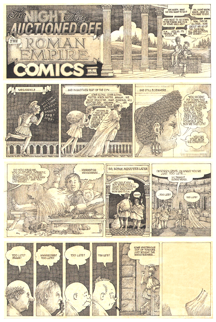 Comic for  Horizon  magazine, 1971